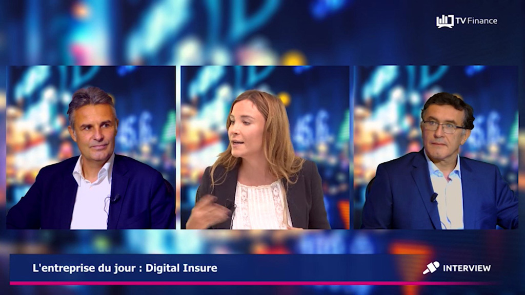 Les fondateurs de Digital Insure, Fabrice Couturier et Jean Orgonasi, sur TV Finance